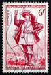 ������, ������: Postage stamp France 1953 Gargantua by Francois Rabelais