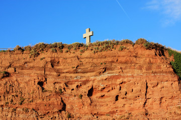 Cross on a cliff