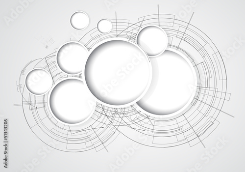 abstract cloud circuit computer technology business background