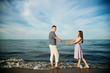 couple in love near sea
