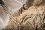 Feminine bra and underclothes background