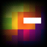 Colorful optical illusion abstract background, vector.