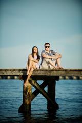 romantic day in harbor