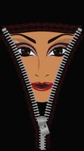 Concept. Ouvrir visage femme musulmane, vecteur