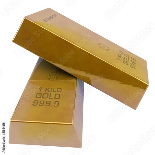 2 lingotes de oro