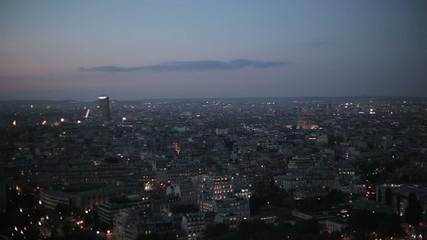 Ночной Париж. Вечерняя понорама столицы Франции