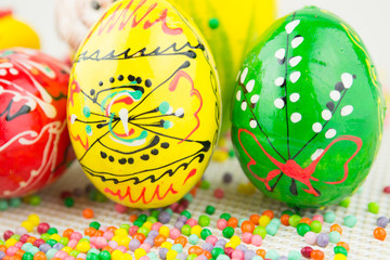 Handmade painted Easter eggs