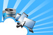 cloud computing concept illustration design