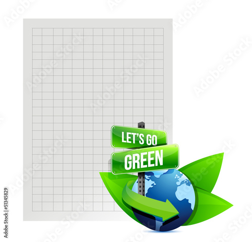 lets go green. recycle paper