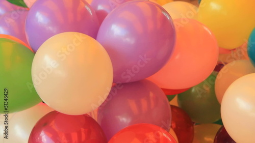 Lots of colorful balloons prepared for a children's holiday
