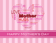Mothers Day Word Cloud Greeting Card