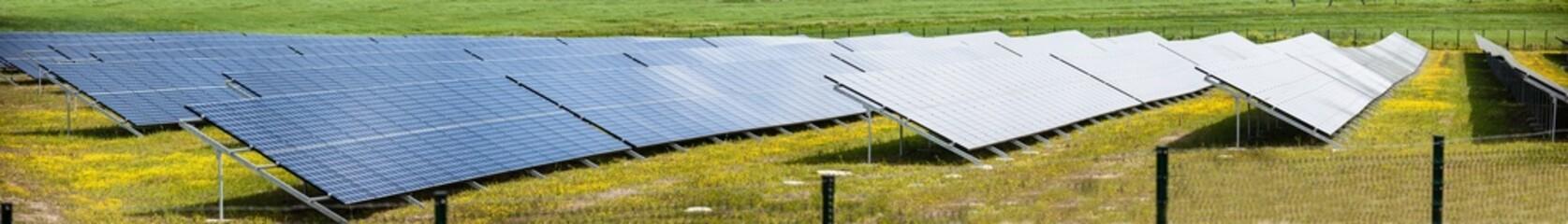Solar panels panorama