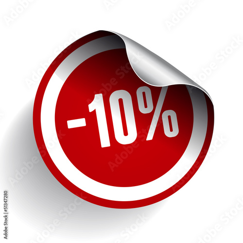 Sale percents label. Vector.