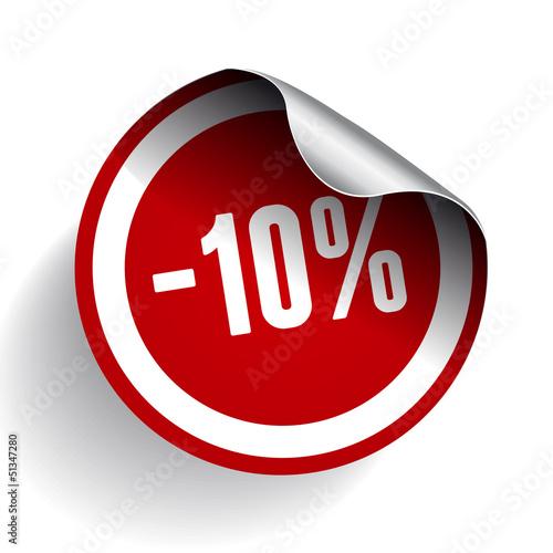 Sale percents label. Vector.