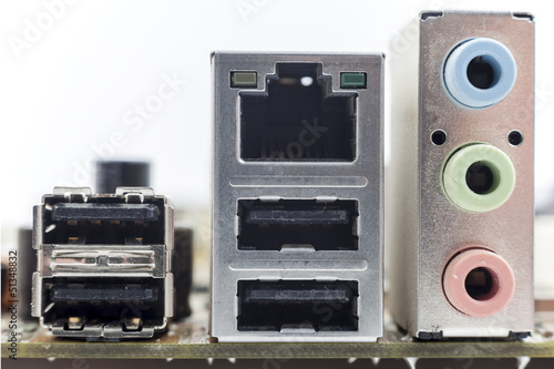 computer motherboard board connectors