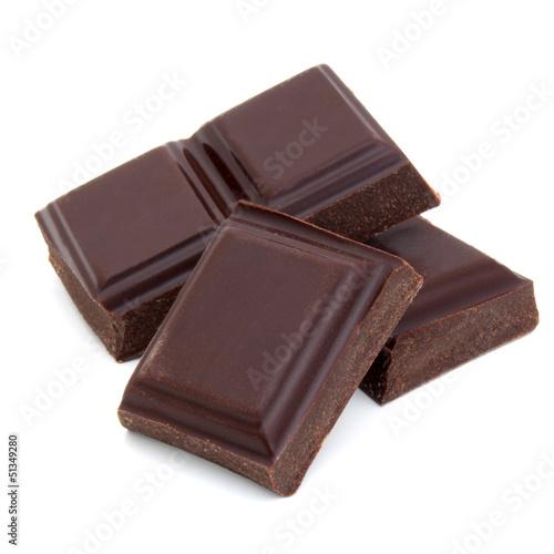 Fotobehang Bakkerij Morceaux de chocolat