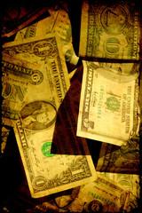 Retroplakat - Dollarscheine II