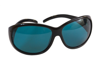 blue sunglasses spectacles sun isolated on white background clip