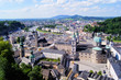 Aerial view over the old town of Salzburg, Austria