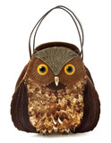 Owl imitation leather tote