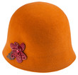 felt ladies cloche hat