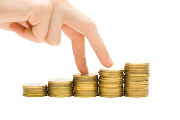 Economics growth concept - profit goes up