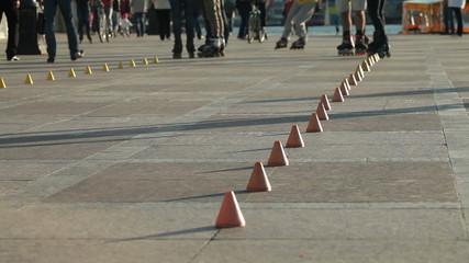 Inline Skating On City Street