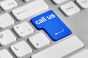 keyboard with call us