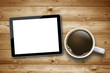 Cup of Coffee with Tablet PC