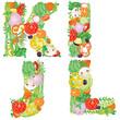 Alphabet of vegetables IJKL
