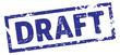 Stempel Draft blau