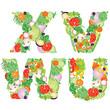 Alphabet of vegetables VWUX