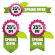 Sping offer 25 percent off buttons pink