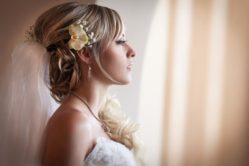 Beautiful bride in wedding day