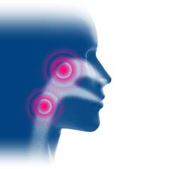 Atemwege Entzündung - 3D Illustration