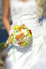 beautiful wedding flowers bouquet of bride