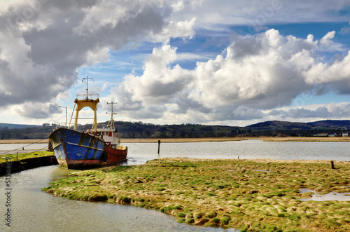 Boat on the Nith Estuary at Glencaple