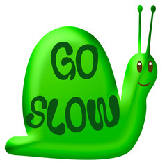 go slow green snail