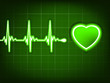 Green heart beat. Ekg graph. EPS 8