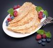 Pfannkuchen, Beeren