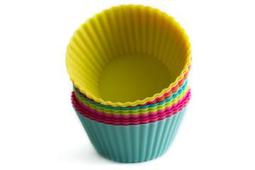 Colorful cupcake silicon molds