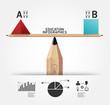 Creative infographics education pencil concept vector illustrati