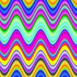 Vibrant multicolored digital waves illustration.