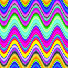 Vibrant multicolored digital waves illustration.
