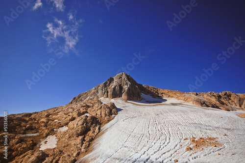 Mount Fisht and glacier, Caucasus National Park, Caucasus, Russi