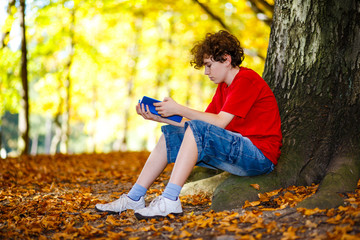 Student learning outdoor