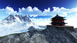 Sun temple - Buddhist shrine in the Himalayas - 51356634