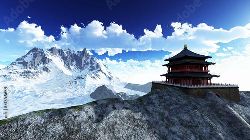 Sun temple - Buddhist shrine in the Himalayas