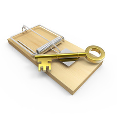 Mousetrap with gold key