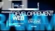 Développement Web solutions en ligne nuage de mots animation